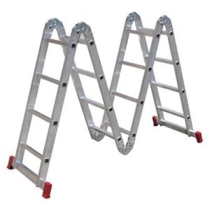 Escada Articulada Botafogo 4x4 ESC0293 com Degraus em Alumínio