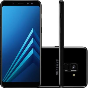 "Smartphone Samsung Galaxy A8 Dual Chip Android 7.1 Tela 5.6"" Octa-Core 2.2GHz 64GB 4G Câmera 16MP - Preto"