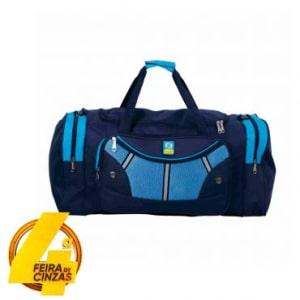 Sacola de Academia YS01038P, Tam 20'' em Poliéster, Alça Transversal, De Mão e De Ombro, Compartimento Externos, Azul - Yins Brasil