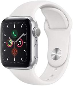 Apple Watch Series 5 Gps, 40 mm, Alumínio Prata, Pulseira Esportiva Branca e Fecho Clássico - Mwv62bz/a