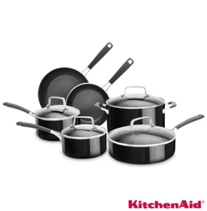 Oferta ➤ Conjunto de Panelas Kitchenaid em Alumínio com 06 Peças Preto – KI996 – KI996CEONAPTO_PRD   . Veja essa promoção