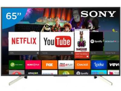 """Smart TV LED 65"""" Sony 4K/Ultra HD XBR-65X905F - Android Conversor Digital Wi-Fi 4 HDMI 3 USB DLNA - Magazine Ofertaesperta"""