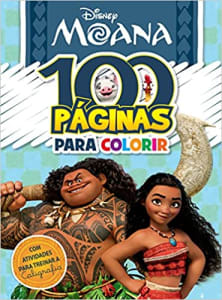 Disney. 100 Paginas Colorir Moana