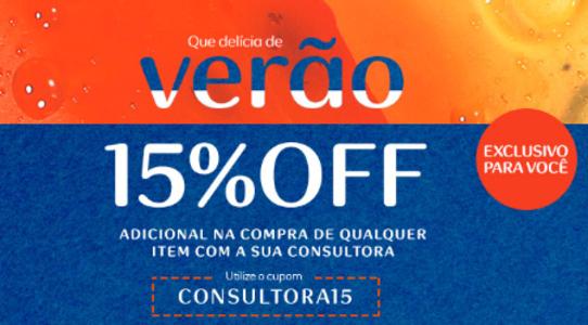 Verão Natura - Produtos com até 70%OFF + 15% de desconto no cupom!!!