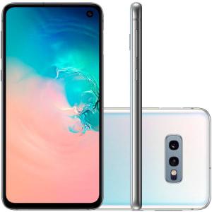 """Smartphone Samsung Galaxy S10E Tela 5,8"""" 128GB Dual Chip OctaCore Câmera Traseira Dupla Branco"""