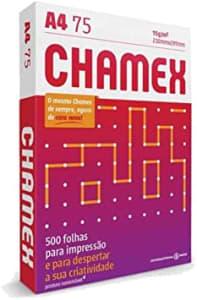 Papel Sulfite A4 75 g, Chamex, CMX075CA4, Branco, Pacote com 500 Folhas