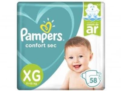 Fralda Pampers Confort Sec Tam. XG - 11 a 15kg 58 Unidades - Magazine Ofertaesperta