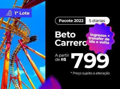 Pacote Beto Carrero World - 2022 Aéreo + Hotel + Ingresso para o Parque!