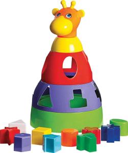Brinquedo Educativo Girafa Didática com Blocos - Merco Toys
