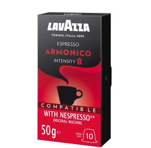 Cápsulas de Café Espresso Armonico Lavazza, Cápsulas Compatíveis Nespresso, Contém 10 Cápsulas