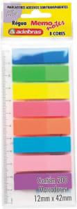 Marcador de Pagina Adesivo Memonote Neon Pacote de 200