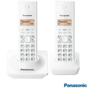 Telefone Sem Fio Panasonic DECT 6.0, 1.9GHz, Branco KXTG1712LBW - PAKXTG1712LBW
