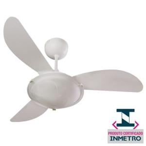 Ventilador de Teto Ventisol Sunny com Lustre, Controle de Velocidade e Reversão de Luz - Branco