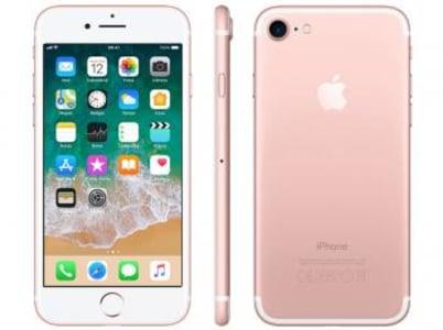 "iPhone 7 Apple 128GB Ouro Rosa 4G Tela 4.7"" Retina - Câm. 12MP + Selfie 7MP iOS 11 Proc. Chip A10 - Magazine Ofertaesperta"