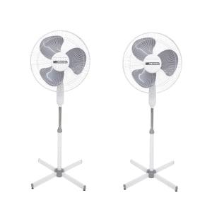 Ventilador de Coluna Incasa Breeze Turbo EE2000A 40cm 3 Pás 3 Velocidades Branco 110V - 2 Unidades