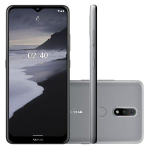 Smartphone Nokia 2.4, 64GB, 3GB RAM, Câmera 13MP/Selfie 5MP, Tela 6.5 HD+, Cinza - NK015