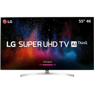 "Smart TV LED 65"" LG Ultra HD 4k 65SK8500PSA com Conversor Digital 4 HDMI 3 USB Wi-Fi Webos 4.0 Dts Virtual X Sound Sync Inteligencia Artificial - Prata"