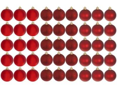[3 CORES] Kit Bola de Natal Vermelha NATAL073 Casambiente - 6cm 45 Unidades