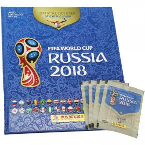 Álbum de Figurinhas Panini Copa da Rússia 2018 - Álbum Capa Dura + 60 Figurinhas