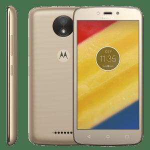 Smartphone Motorola Moto C Plus 8GB XT1726 Ouro - Bateria 4000mAh TV Digital Android 7.0 Nougat