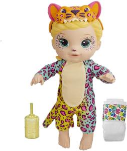 Boneca Baby Alive que Bebe e Faz Xixi - Rainbow Wildcats Leopardo (Exclusivo da Amazon) - F1231 - Hasbro