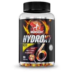 Hydroxy 6 USA Termogênico de liberação lenta à base de cafeína 90 Caps