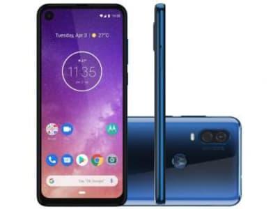 "Smartphone Motorola One Vision 128GB Azul Safira - 4G 4GB RAM 6,34"" Câm. Dupla + Câm. Selfie 25MP - Magazine Ofertaesperta"