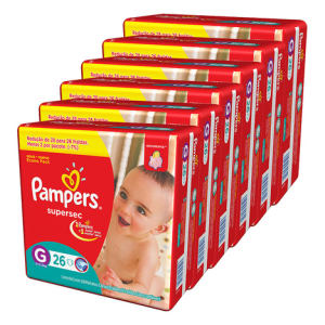 Kit de Fraldas Pampers Pacotão Supersec