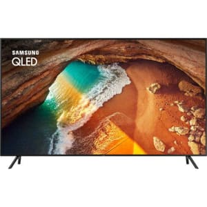 "Smart TV QLED 65"" Samsung 65Q60 Ultra HD 4K com conversor Digital 4 HDMI 2 USB Wi-Fi Modo Ambiente 120Hz- Preta"
