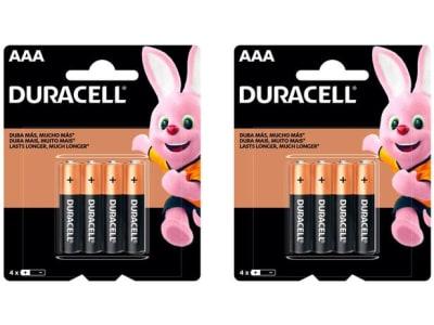 Kit com 8 Unidades de Pilha Alcalina AAA Duracell - Magazine Ofertaesperta