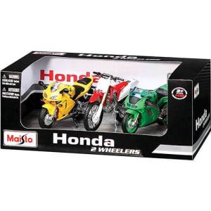 Motocicleta Wheelers Motorcycle 1:18 3 PK Pack Honda - Maisto
