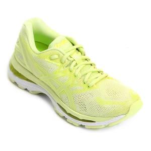 6ae9cca2ac Tênis Asics Gel Nimbus 20 Feminino - Verde Limão