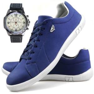 Sapatenis Neway SW Azul Relógio