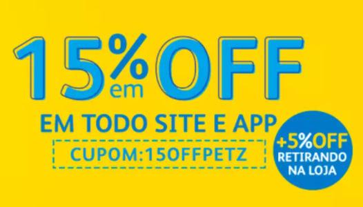 Todo o Site Petz com 15% de Desconto!