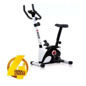 Bicicleta Ergométrica Vertical KV 3.1i, Magnética, Suporta até 100kg, Painel Multifunções, Sensor Cardíaco, Assento Com Regulagem - Kikos