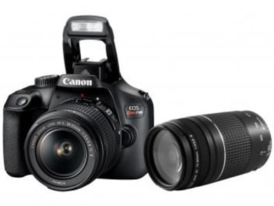 Câmera Digital Canon Semiprofissional - EOS Rebel T100 + Lente Zoom Telefoto 75-300mm - Magazine Ofertaesperta