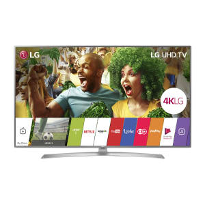 "Smart TV LED 65"" LG 65UJ6545 Ultra HD 4K 4 HDMI 2 USB Prata com Conversor Digital Integrado"