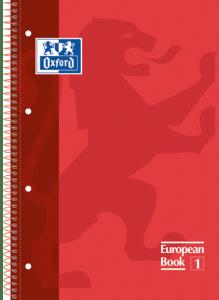 Caderno Executivo Espiral Capa Dura 1X1 96 folhas Canson Oxford Europeanbook 1 - Vermelho (Cód: 8196151)
