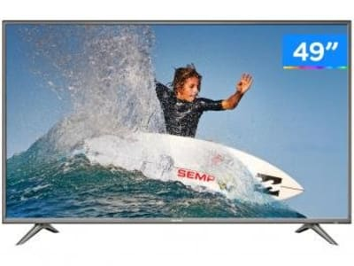 "Smart TV 4K LED 49"" Semp SK6200 Wi-Fi HDR - 3 HDMI 2 USB"
