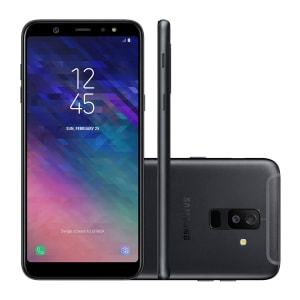 "Smartphone Samsung Galaxy A6+ SM-A605GZKQZTO 64GB Preto Tela 6"" Câmera 21MP Android 8.0"
