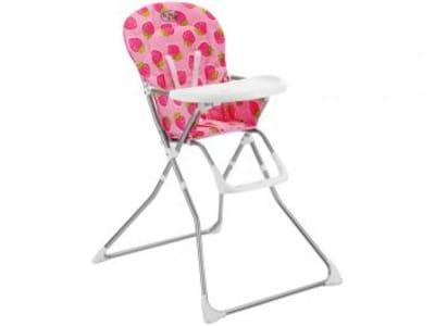 Cadeira de Alimentação Baby Style Cangoo - Morango para Crianças até 15kg