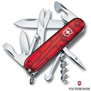 Canivete Climber com 14 Funções em ABS e Celidor Vermelho Translúcido - Victorinox