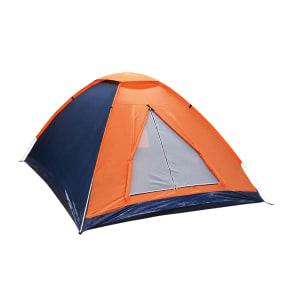 Barraca de Camping Iglu para 6 Pessoas em Fibra de Vidro Nautika Panda 155154 Laranja e Azul Escuro