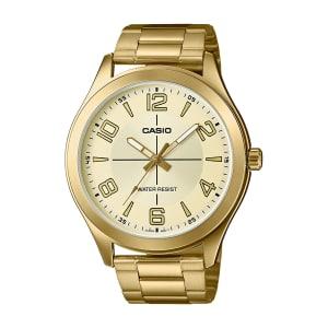 Relógio Casio Unissex Dourado Analógico MTP-VX01G-9BUDF