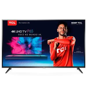 """Smart TV 4K LED 65"""" TCL P65US HDR Wi-Fi - Conversor Digital 3 HDMI 2 USB"""