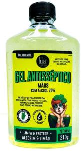 Gel Antisséptico 70% Alecrim & Limão, 210g, Lola Cosmetics