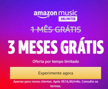 Amazon Music - 3 Meses Grátis!