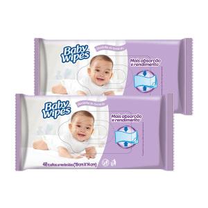 Kit de Lenços Umedecidos Huggies Baby Wipes Lavanda - 96 Unidades