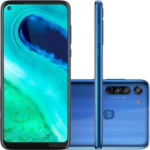 """Smartphone Motorola Moto G8 64GB Dual Chip Android 6,4"""" Qualcomm Snapdragon 665 (SM6125) 4G Câmera Traseira 16MP + 8MP + 2MP Foco à Laser Filmadora 4K - Azul Capri"""