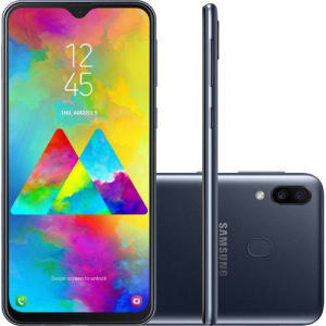 "Smartphone Samsung Galaxy M20 64GB Dual Chip Android 8.1 Tela 6.3"" Octa-Core 4G Câmera 13MP + 5MP - Preto"